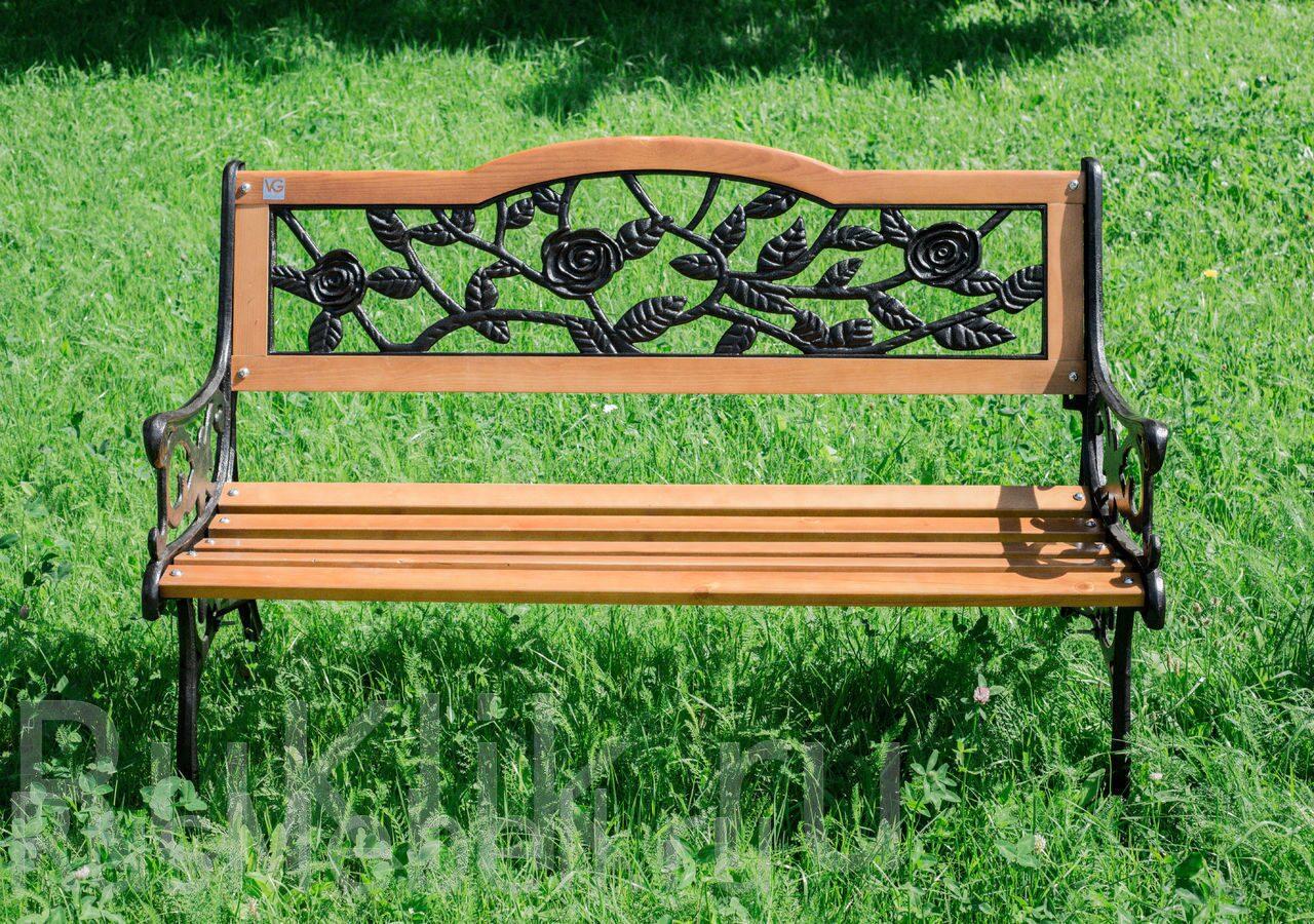 Скамейка кованая садовая со спинкой